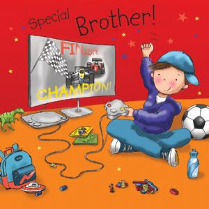 TW676 - Brother Birthday Card Playstation